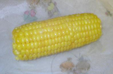 frozen corn cooked in the microwave oven